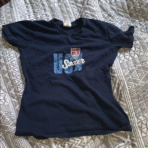 Blue nike team soccer shirt